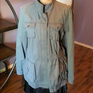 Old Navy cargo jacket light large grey blue